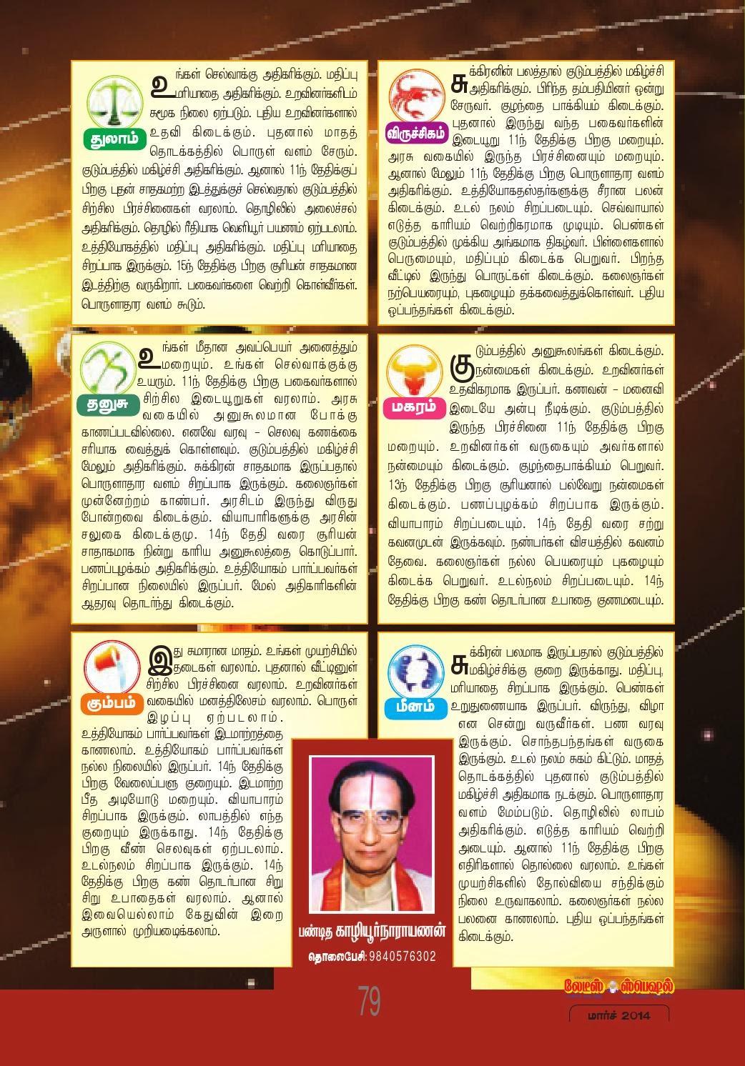 year 2014 rasi palan in tamil dinamalar collections rasi palan 2014