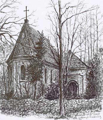 Ruiny gotyckiego kościoła z XIV w. w Starej Rudnej