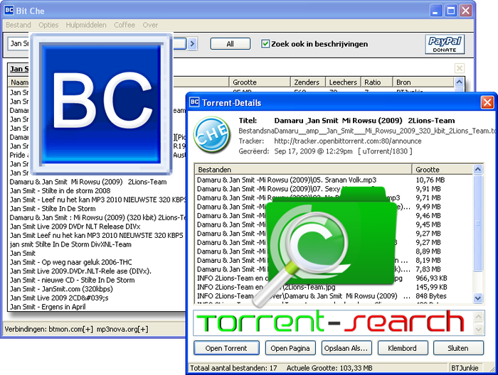 Bit che software gratis di ricerca file torrent - La finestra di fronte torrent ...