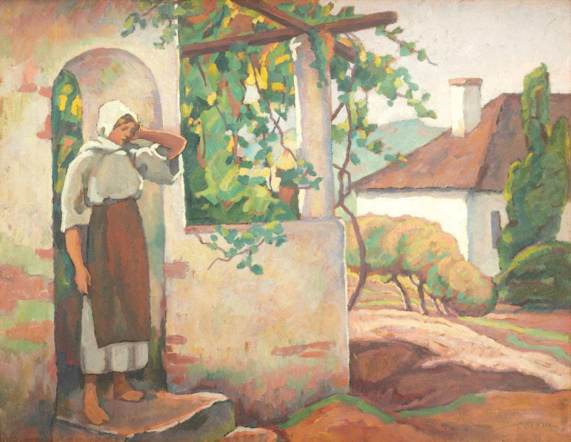 Camil Ressu - Ţărăncuţă în pridvor la Vlaici