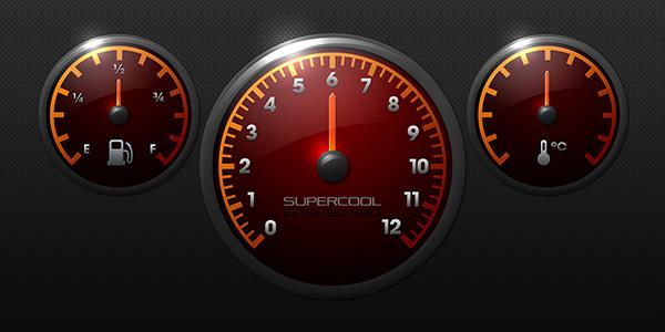 race car dashboard graphics