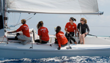 J/80 one-design sailboat- women sailing team