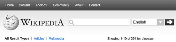 My Wikipedia header redesign