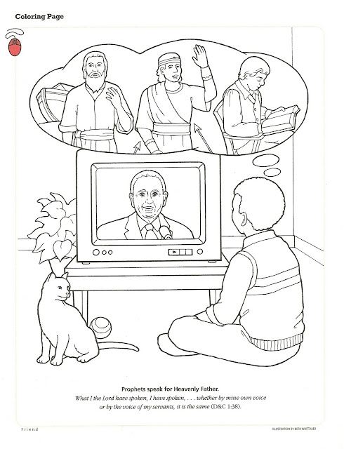 Happy clean living primary 5 lesson 31 for President monson coloring page