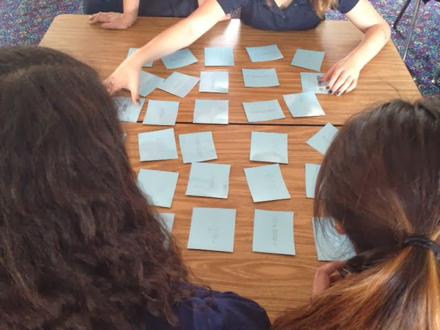Students in Algebra play Scientific Notation Memory game