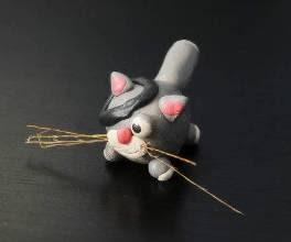 котик из пластилина