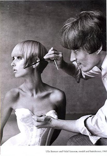 Vidal Sassoon 1965 cutting hair of Ulla Bomser