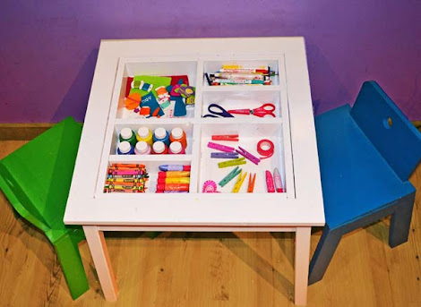 ana white arts and crafts play table diy projects. Black Bedroom Furniture Sets. Home Design Ideas