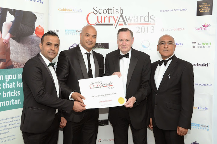 Akbars Wins Both Nominee groups of Recognition of Menu and Best Restaurant Design