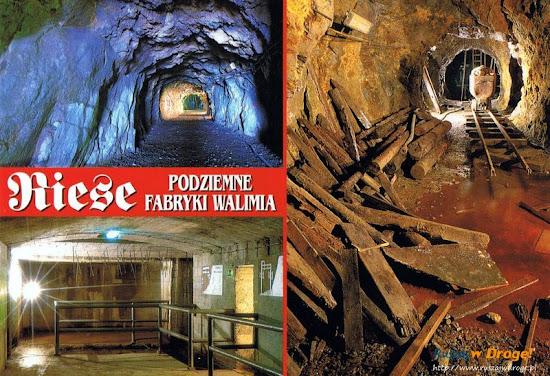 Podziemne fabryki Walimia pocztówka