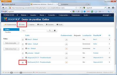 Personalizar plantilla en Joomla! 3