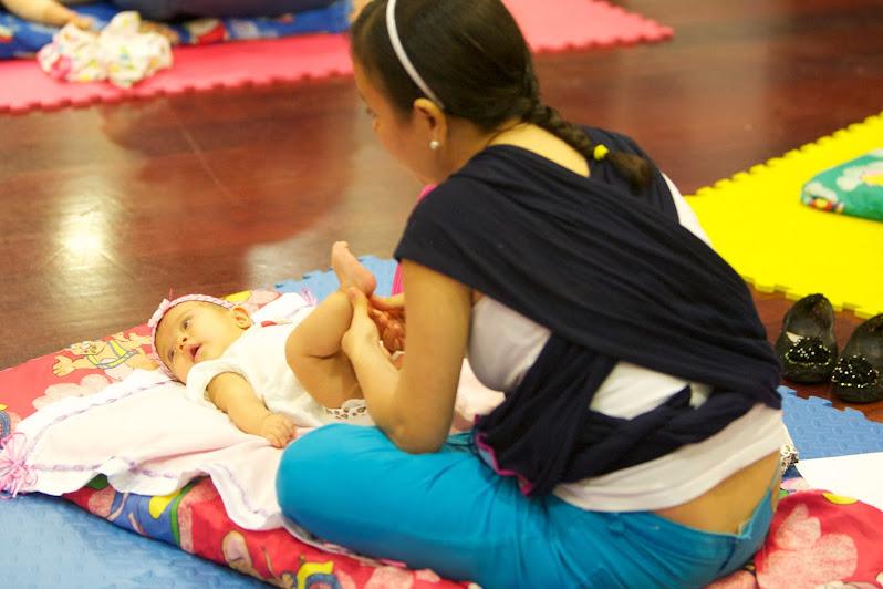 Los talleres de masajes están dirigidos a bebés de 0 a 12 meses y se llevan a cabo durante todo el año? en el Cnaspm