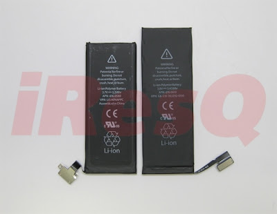 iPhone4SのバッテリーとiPhone5のバッテリー