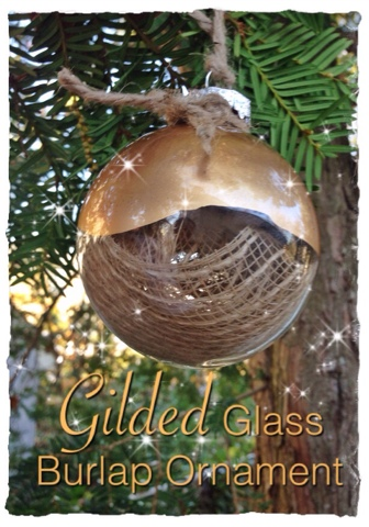 365 designs gilded glass burlap ornament so here are the super easy steps if you want to try making this yourself solutioingenieria Gallery