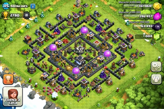 Clan wars th9 trophy bases