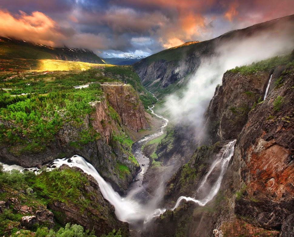Ворингфоссен, Норвегия, Красивые водопады планеты