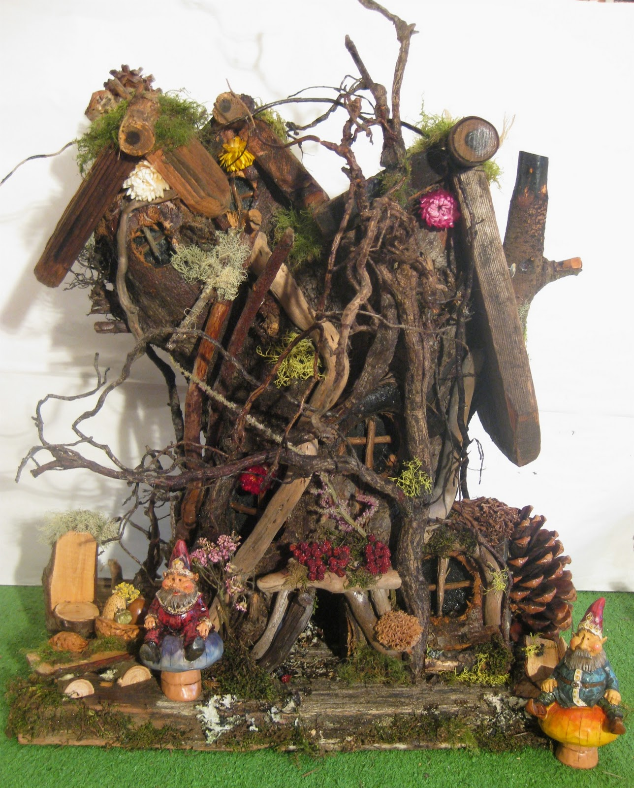 Gnome Tree Stump Home: Gnome Stories At Whimsical Woods: Gnome Homes