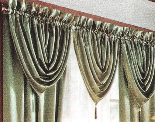Tres cortinas diferentes con un molde.