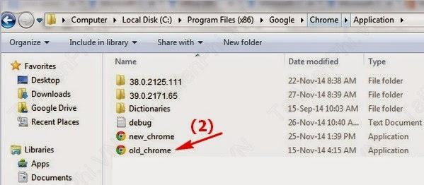 Hạ cấp Chrome 39 xuống Chrome 38 tránh lỗi giao diện - 55643