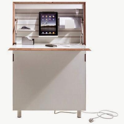 bureau informatique gain de place. Black Bedroom Furniture Sets. Home Design Ideas