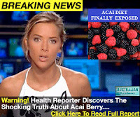 Julia Miller acia berry diet announcement