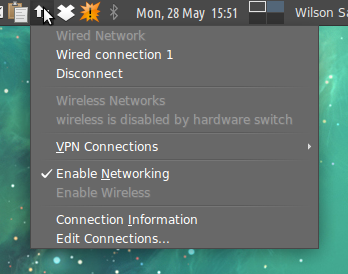 wireless is disabled by hardware switch