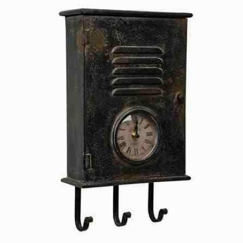 metal locker key cabinet with clock