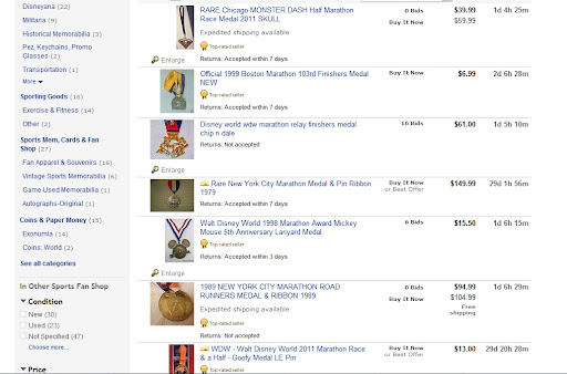 medals on ebay