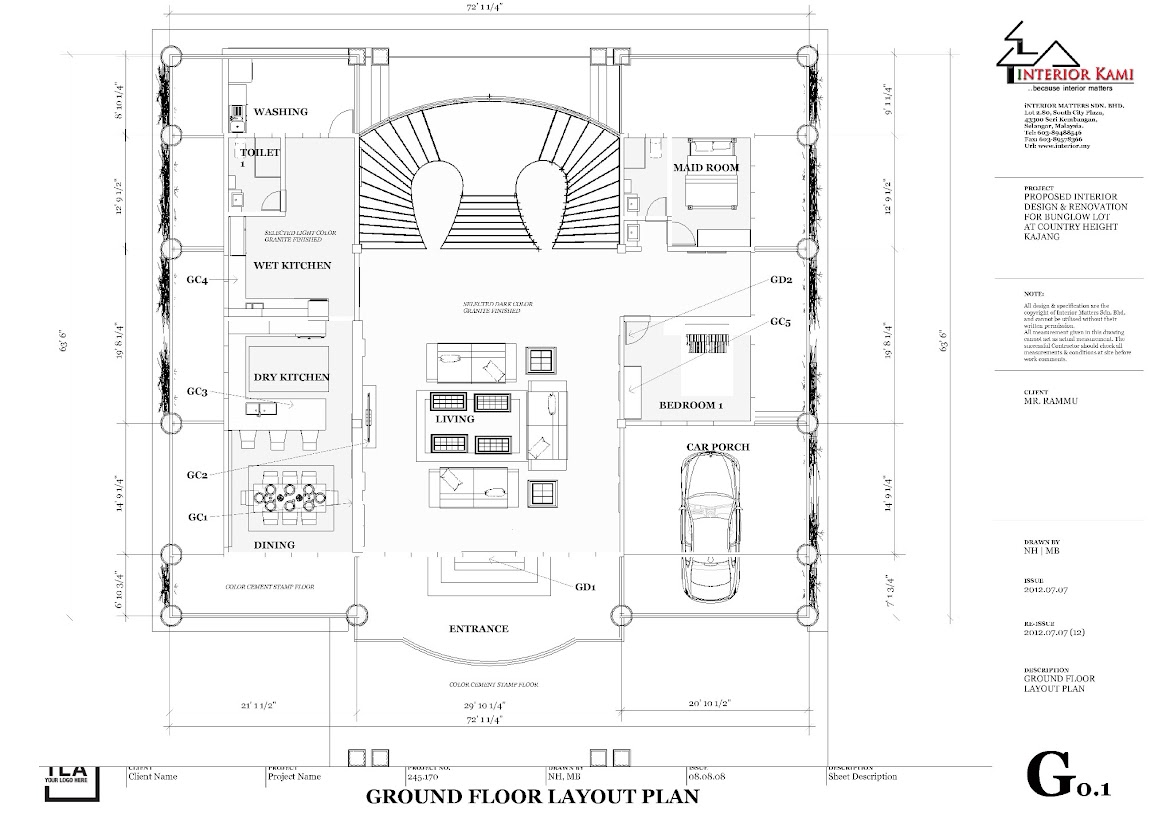 ground floor layout plan - bunglow country height