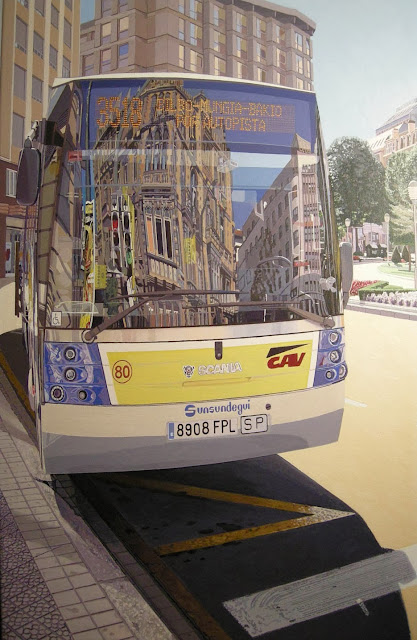 Reflejos bus, pintura  de Francisco Motto