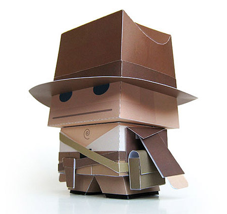 Indiana Jones Paper Toy