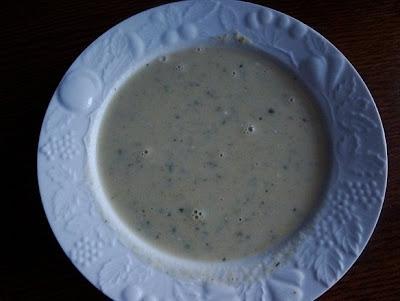 Potage à la courgette et au Maredsous - recette indexée dans les Entrées