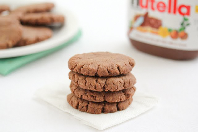 Nutella Peanut Butter Cookies