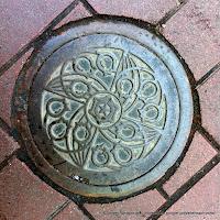 札幌市汚水桝デザインハンドホール蓋:すずらん