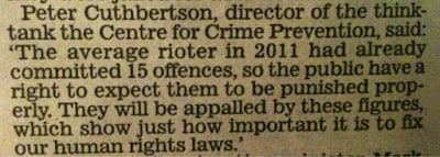 Peter Cuthbertson on rioters