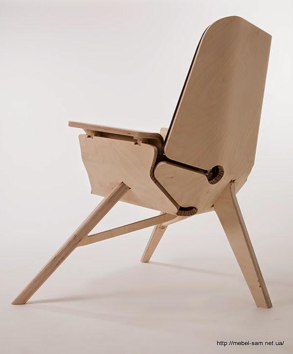 Опора кресла - всего три ножки из фанеры двойной толщины