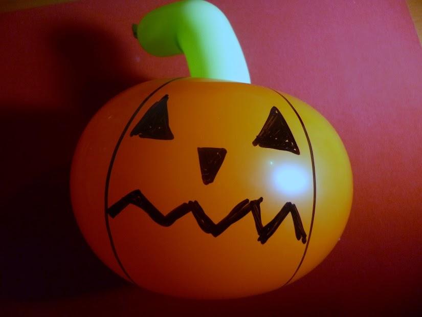 calabaza para halloween de globos