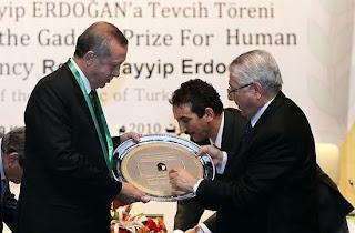 Prix Kadhafi des droits de l'Homme Premie ministre turc