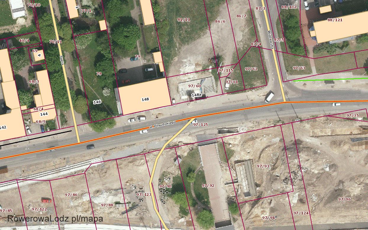Kolorem czarnym asfaltowa droga dla rowerów. Zielonym istniejący od lat ciąg pieszo-rowerowy