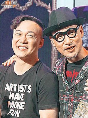 陳奕迅(左)、張學友