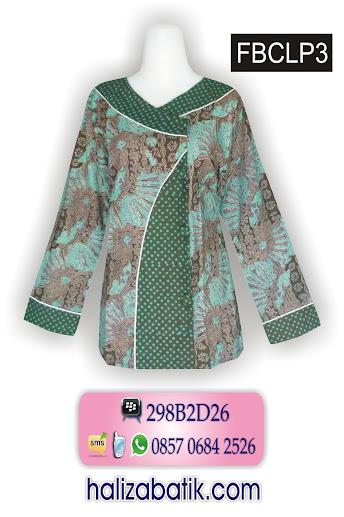busana kerja batik, desain baju batik terbaru, batik pekalongan murah