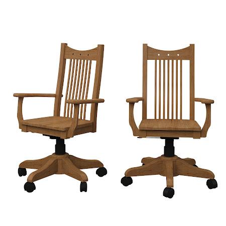 Western Office Chair in Calhoun Maple