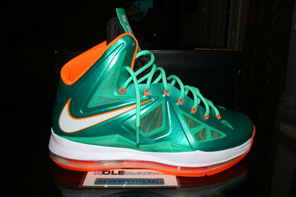 timeless design 357b1 39206 Nike LeBron X iD Miami Dolphins by nystatenisland ...