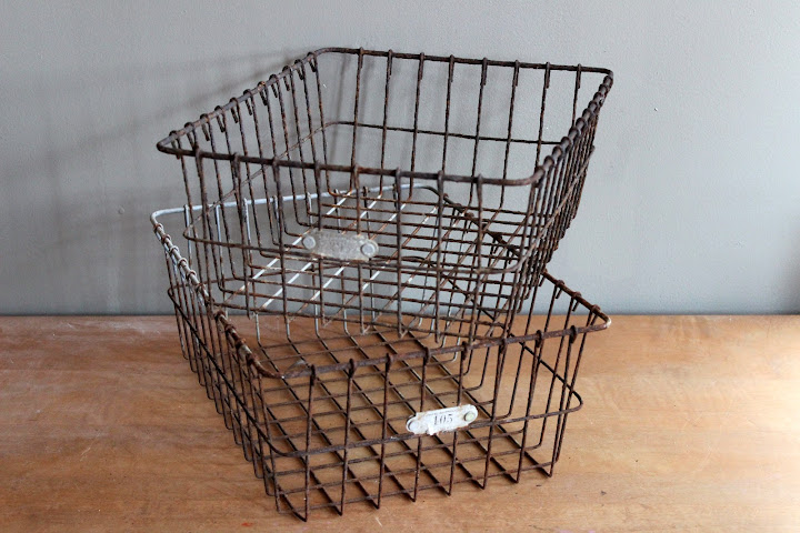 Wire locker baskets available for rent from www.momentarilyyours.com, $5.00 each.