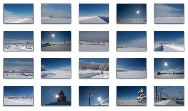 北竜町の冬景色
