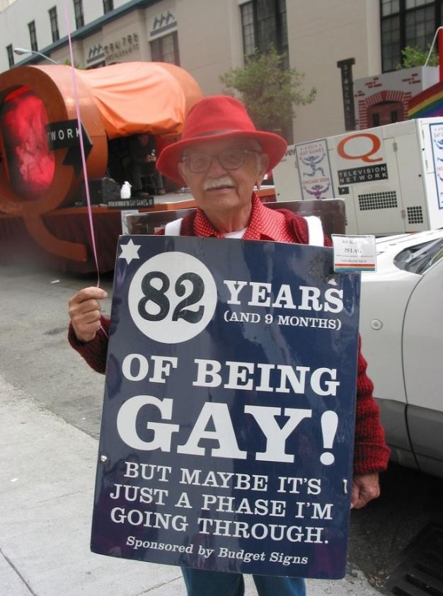 Gay há 82 anos. Mas talvez seja só uma fase