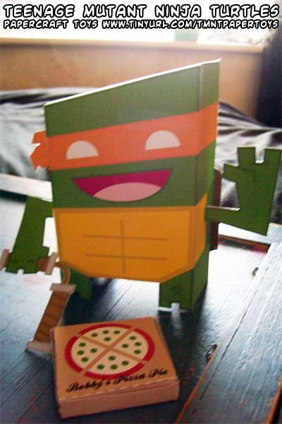 TMNT Paper Toy Set