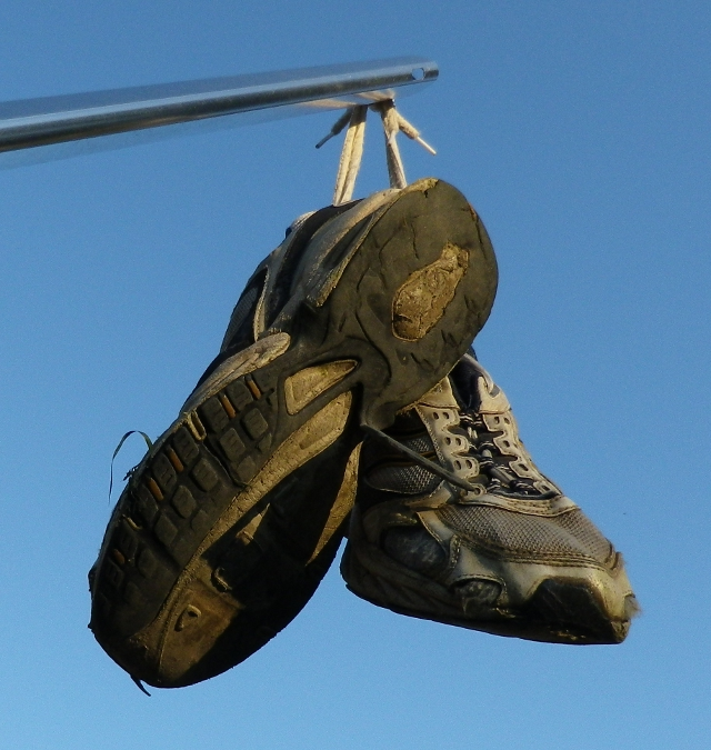 Old flying shoes