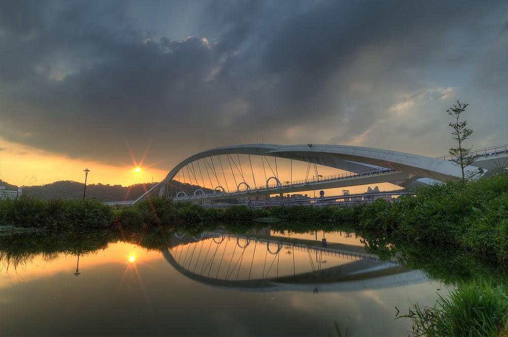 水映.陽光橋.夕景!!!