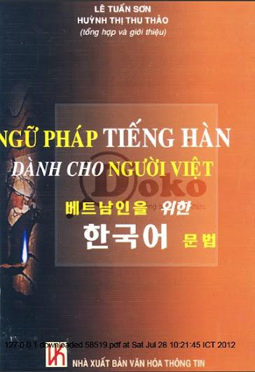 Ngữ pháp tiếng Hàn dành cho người Việt